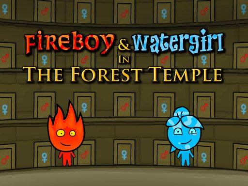Jeu Garçon-feu & Fille-eau : Temple de forêt