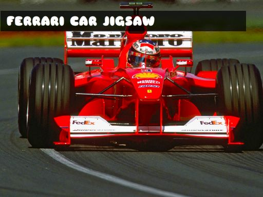 Jeu Ferrari Car Jigsaw